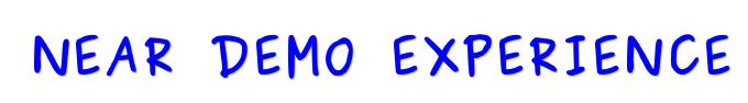 N.D.E : Near Demo Experience - Logo